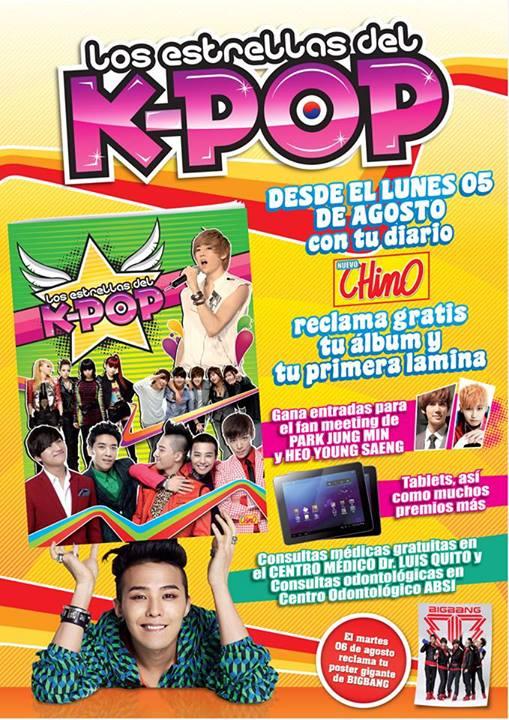 """Diario """"El Chino"""" presenta el álbum: Las Estrellas del K-POP"""