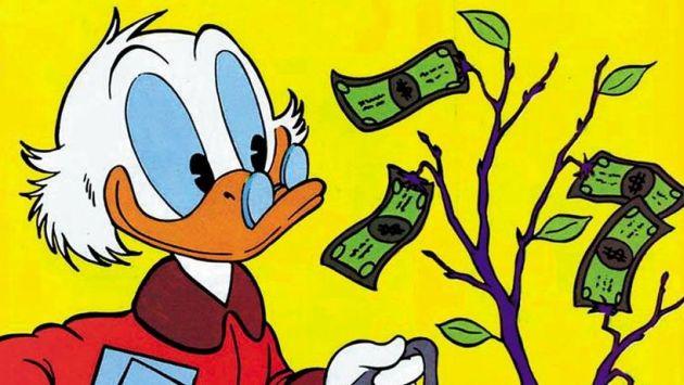 Rico McPato es el personaje más rico, seguido por Smaug (El Hobbit) y Carlisle Cullen (Crepúsculo)