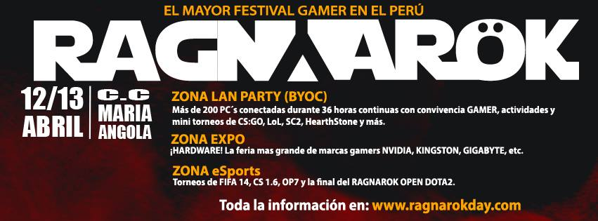 Este 12 y 13 de abril: RAGNAROK LAN PARTY 2014