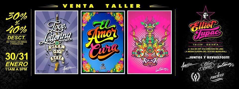 VENTA TALLER – Elliot Tupac , Samuel Gutierrez, Orlando Aquije