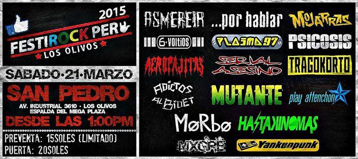 FESTI ROCK PERU 2015  | 21 de Marzo