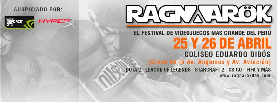 Ragnarok 2015 | 25 y 26 de abril en el Coliseo Eduardo Dibós