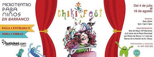 CHIKIFEST – Microteatro para niños en Barranco