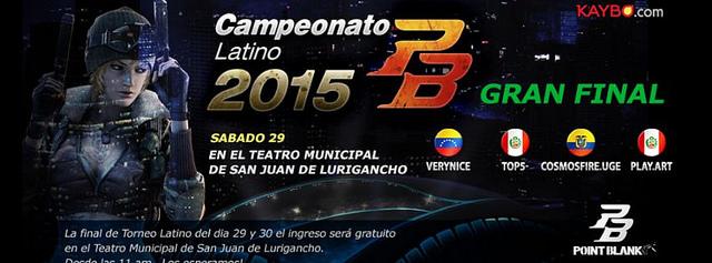 Final del campeonato latino de Point Blank: 29 y 30 de agosto