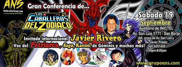Caballeros del Zodiaco en Lima : Conferencia ANS este 19 de Setiembre