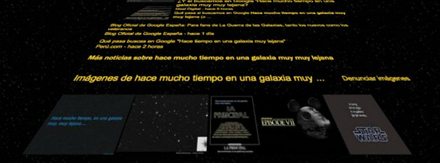 Sorpréndete al buscar en Google la frase inicial de Star Wars