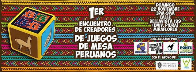 Primer Encuentro de Creadores de Juegos de Mesa Peruanos