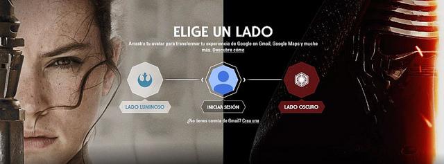 Star Wars llega a Google : Personaliza tus aplicaciones con El despertar de la Fuerza