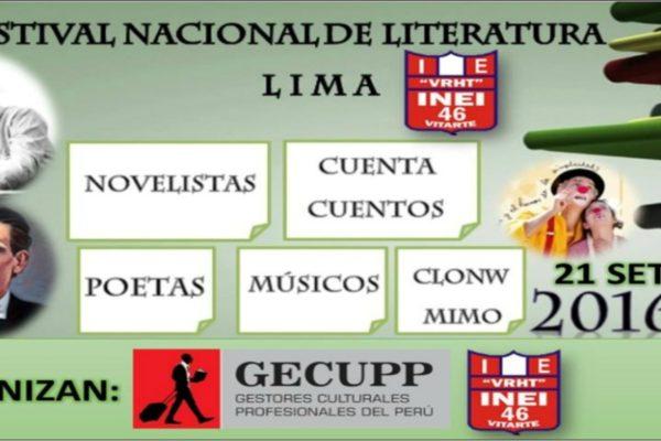 VI Festival Nacional de Literatura - Perú