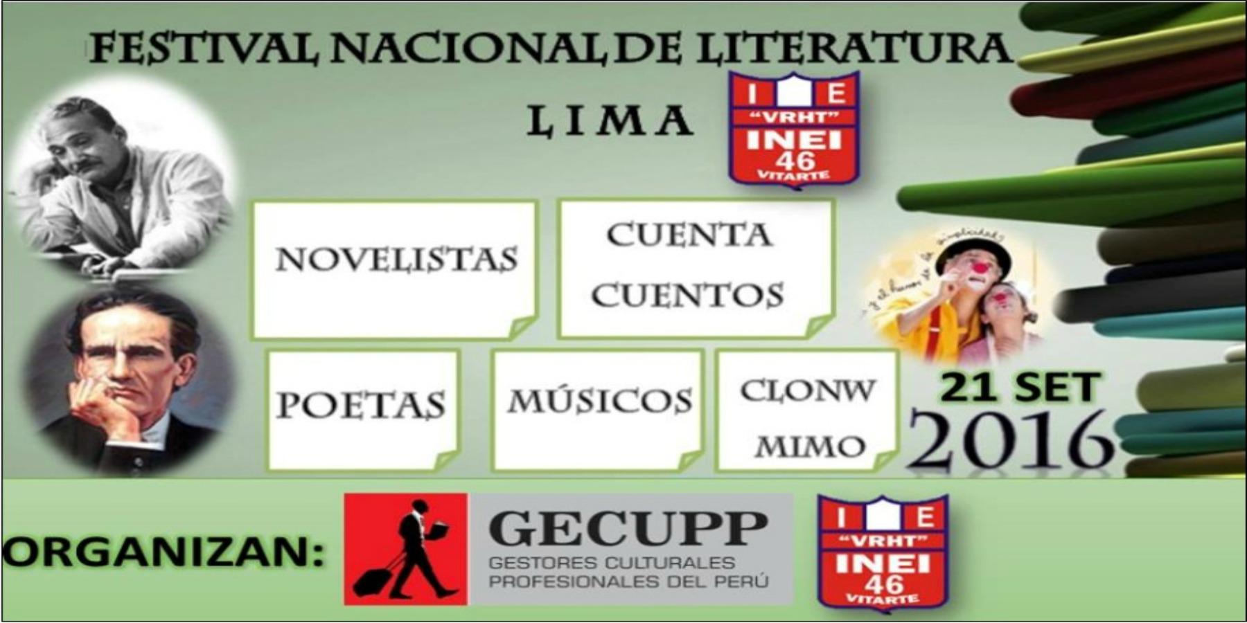 VI Festival Nacional de Literatura – Perú