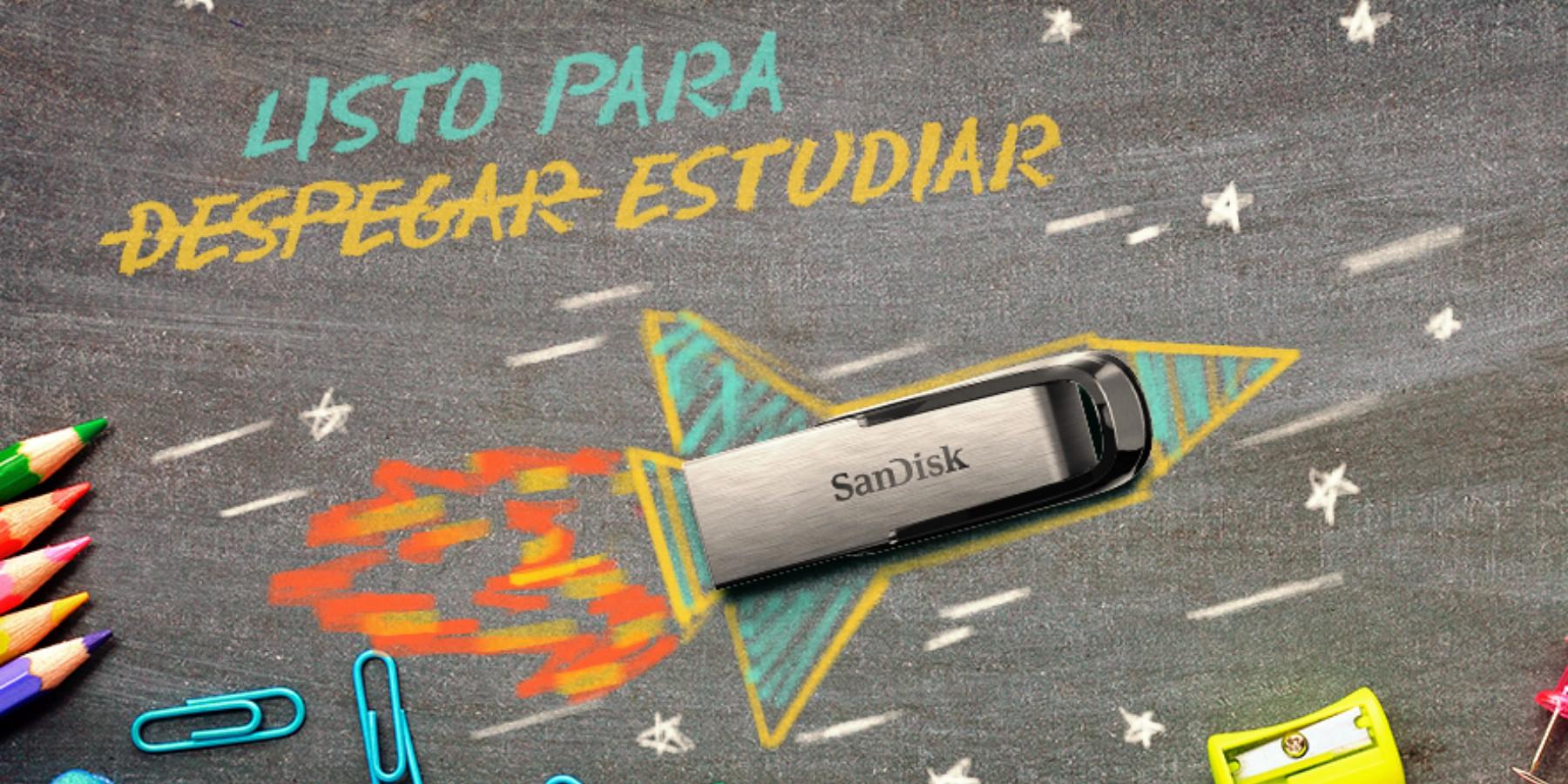 Con el USB SanDisk Ultra Flair 3.0 el regreso a clases es más fácil