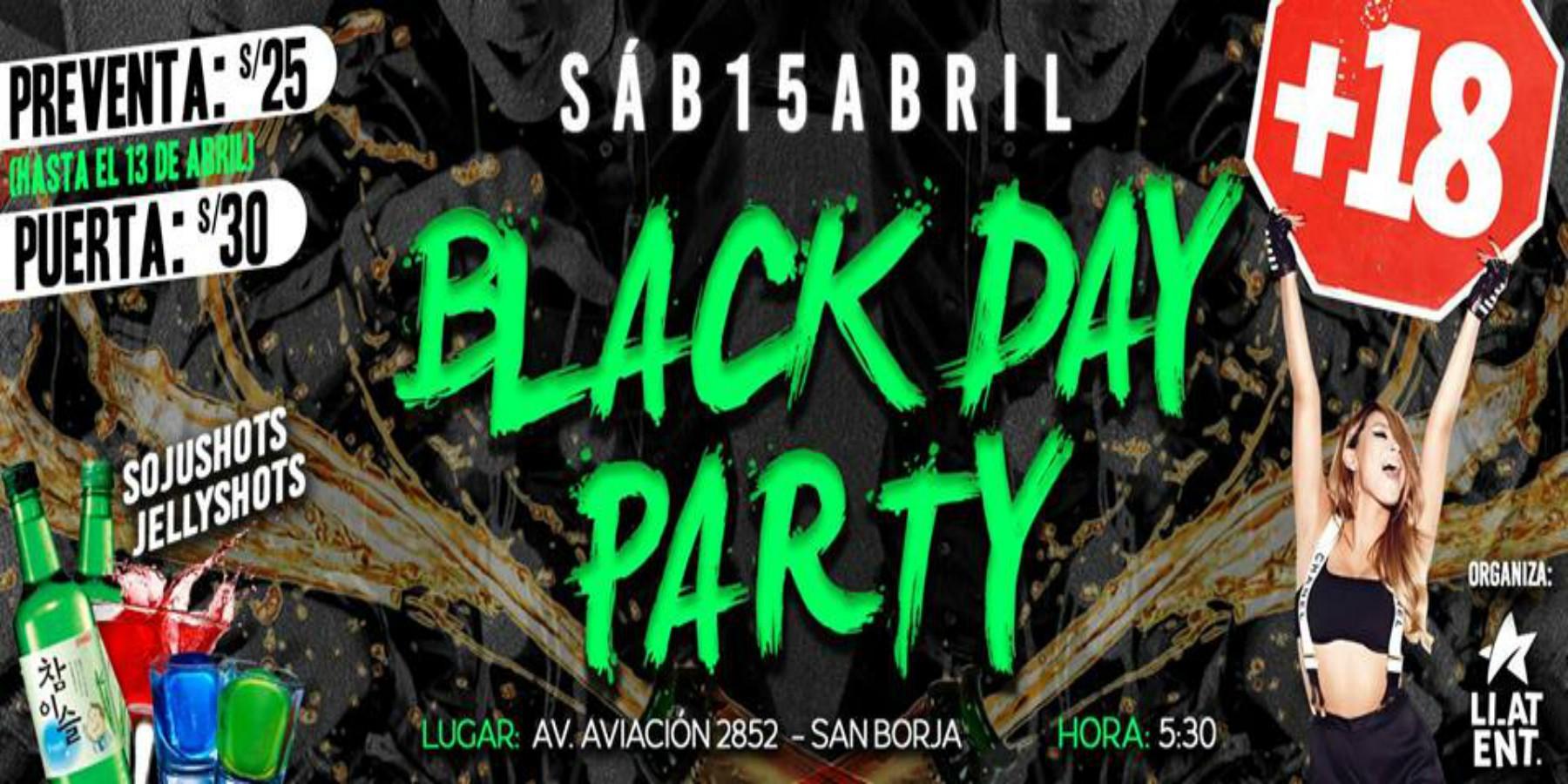 BLACK DAY PARTY | Celebra tu soltería este 15 de abril