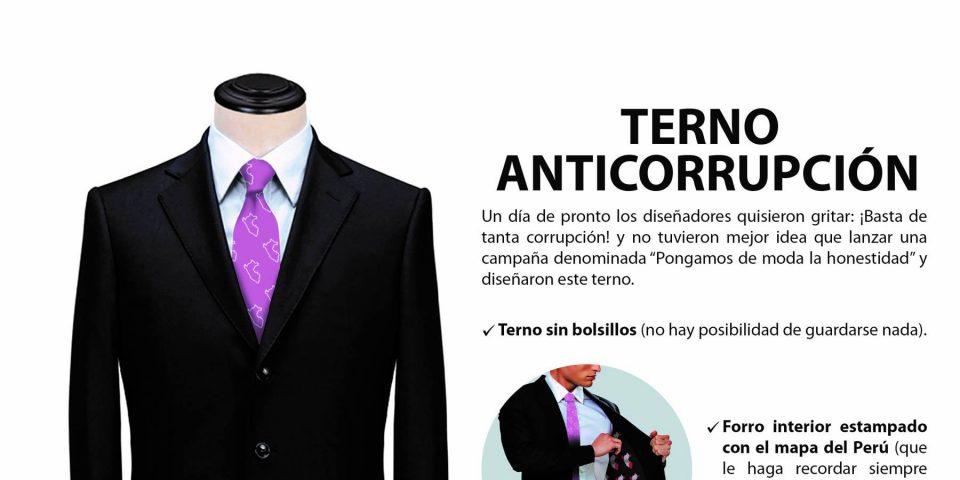 Diseñadores peruanos lanzan Terno Anticorrupción para políticos honestos