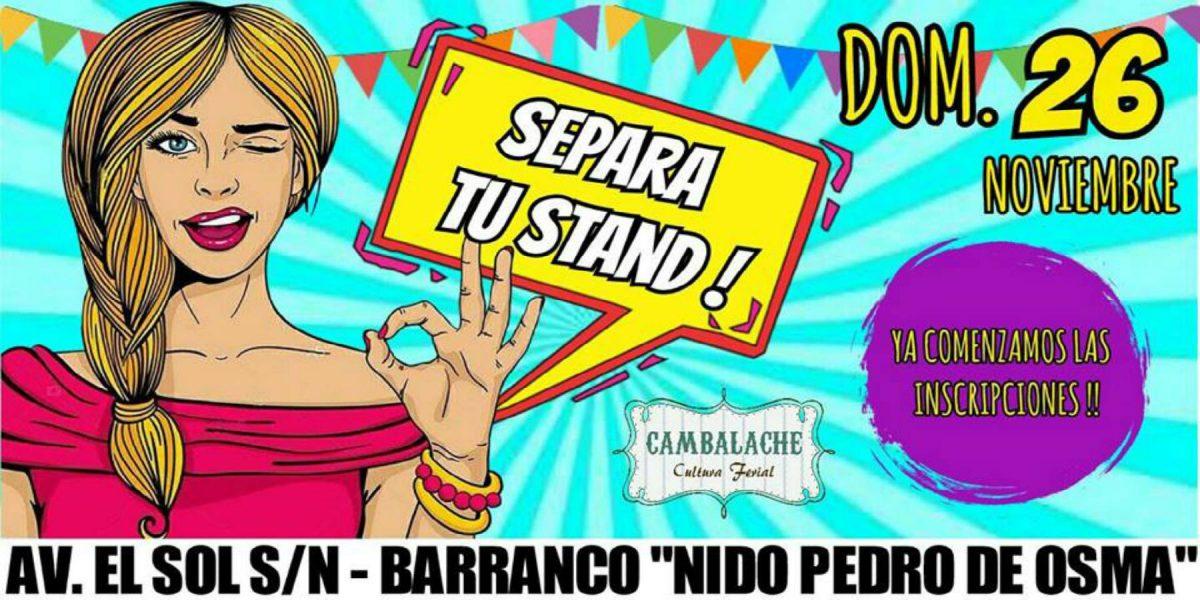 Feria Cambalache en Barranco | 26 de Noviembre