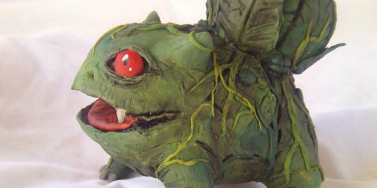 Fan fabrica muñeco realista de Bulbasaur