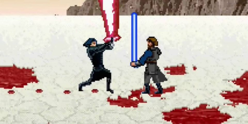 Mira el final de Star Wars The Last Jedi en 16 bits