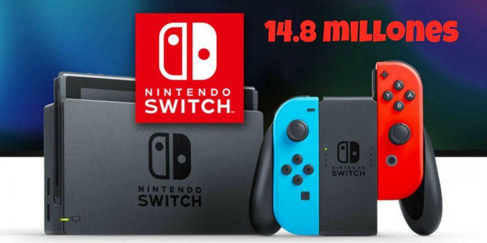 Van vendidos 14.8 millones de Nintendo Switch