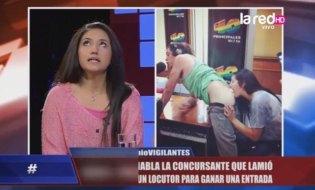 Chilena lame trasero de locutor de radio para ganar entradas