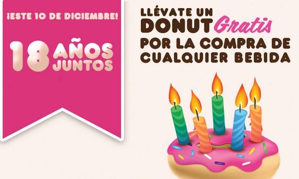 """Dunkin´Donuts regalará hoy """"donuts"""" por aniversario"""