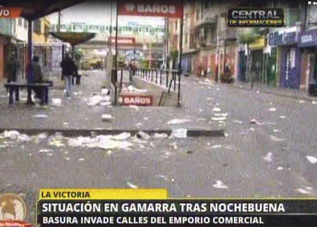 Navidad 2014: Así quedó Gamarra luego de las celebraciones